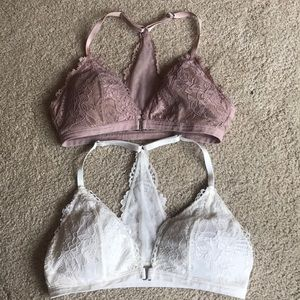 Two Abercrombie and Fitch Lined Bralettes.